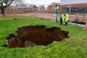 SinkHole/Dene Hole at Rainham Mark Grammar School Kent