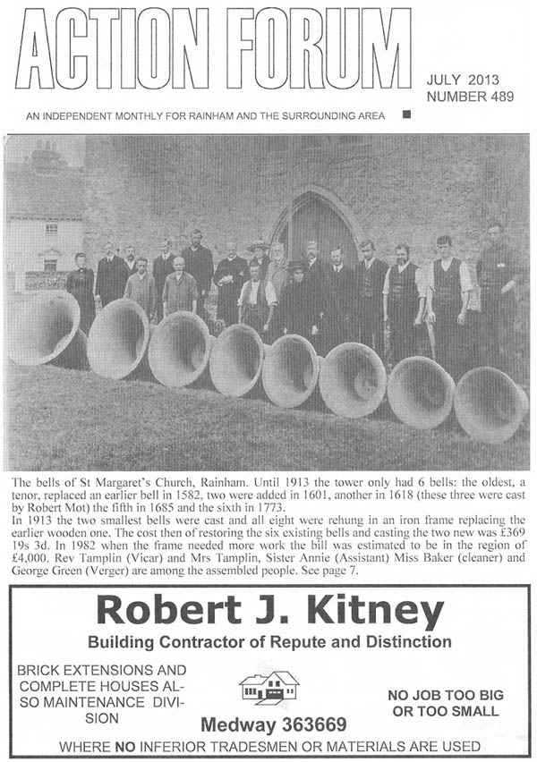 Rainham Church Bells 1911