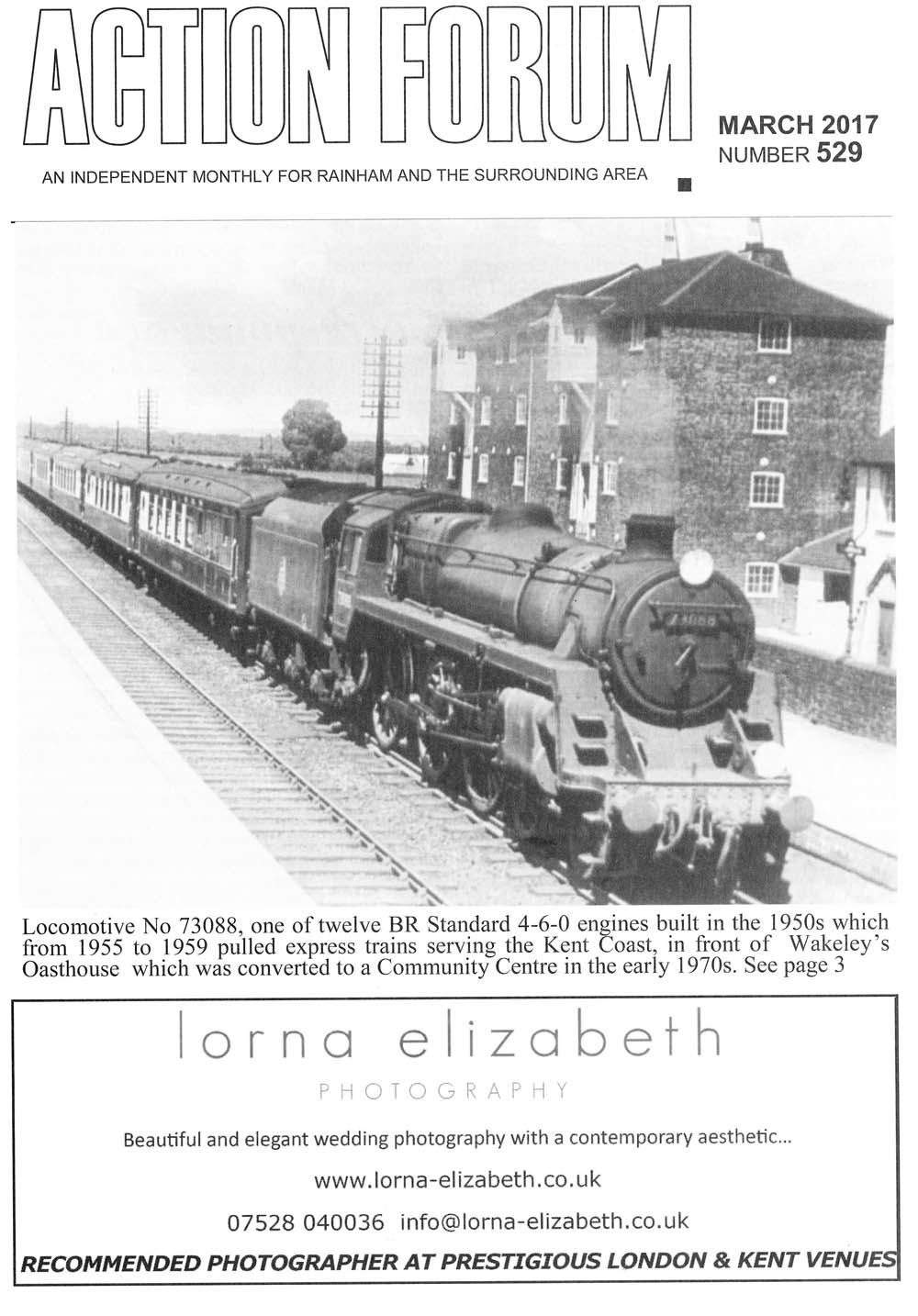 Cover photo of Loco No. 73088 pulling express trains serving Kent coast.
