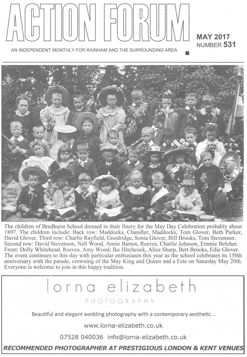 Cover photo of children of Bredhurst School dressed for May Day celebrations in around 1897.