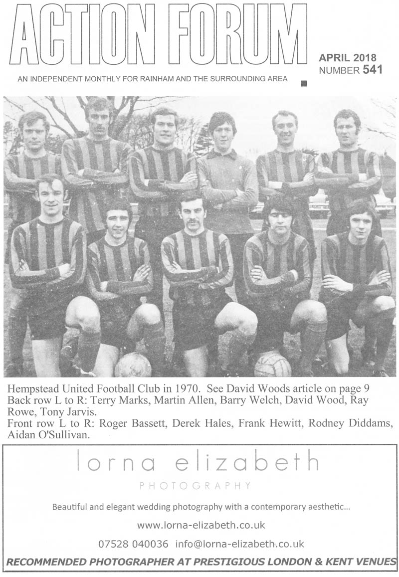 Cover photo of Hempstead United Football Club in 1970