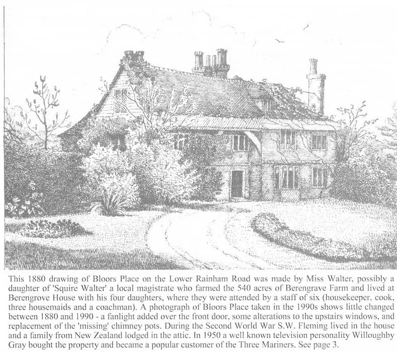 drawing of bloors place in 1880