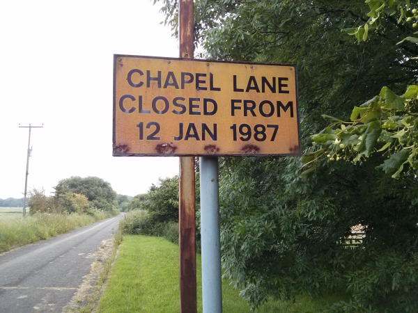 Chapel Lane Hempstead Closed 1987