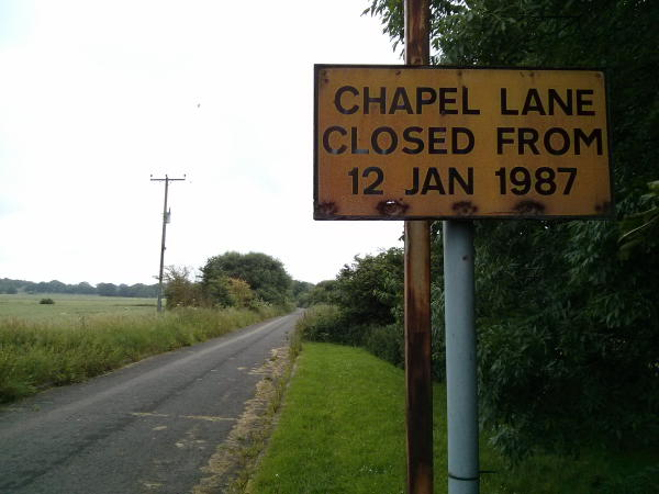 Chapel Lane Hempstead Closed
