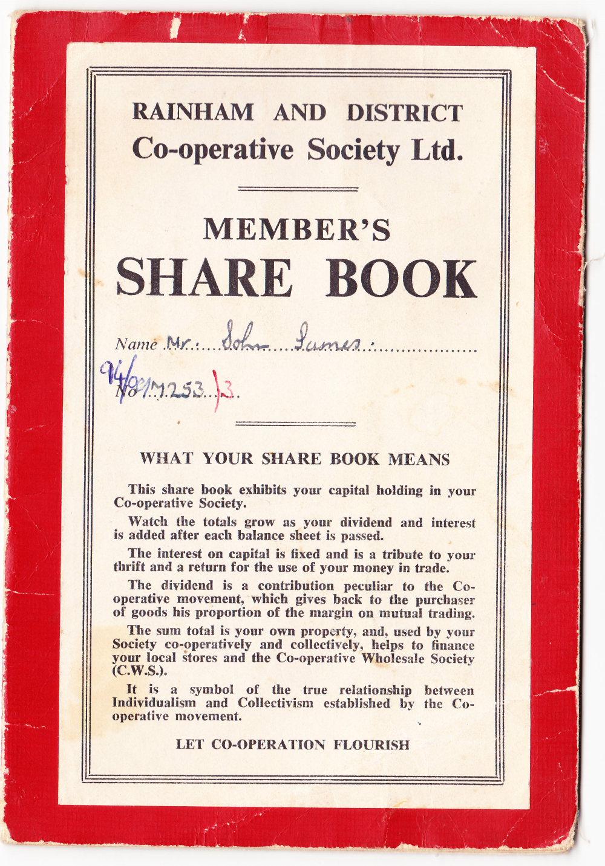 Rainham & District Co-op Share Book