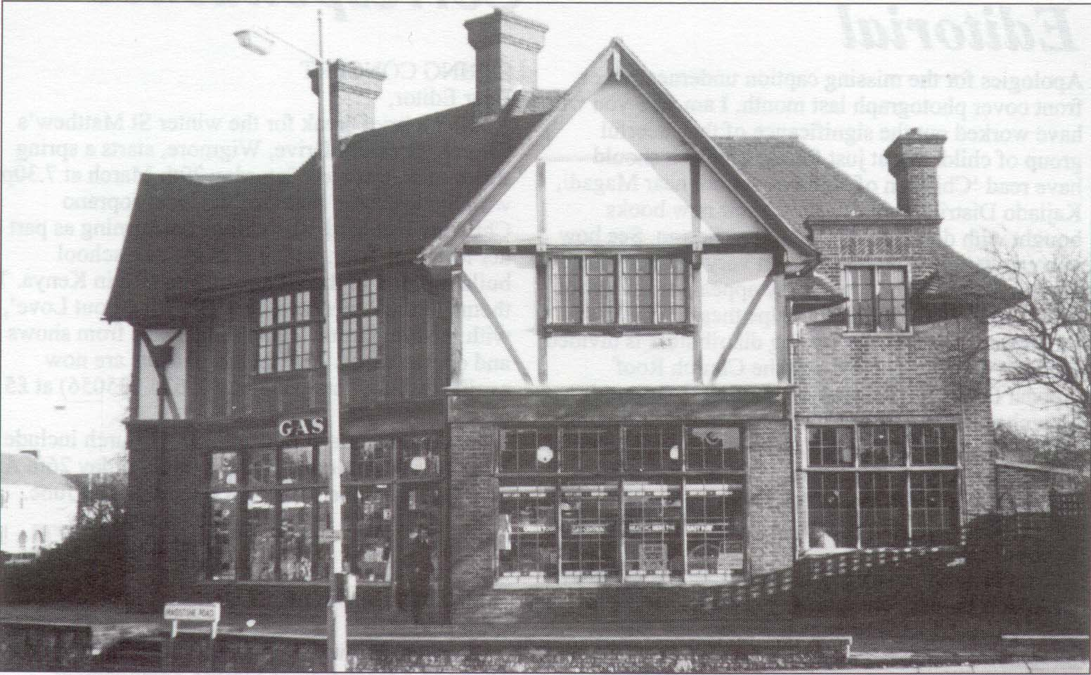 Gas showroom Rainham now Manor Farm Rainham 1930