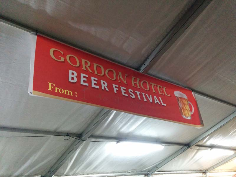 Gordon Hotel beer festival