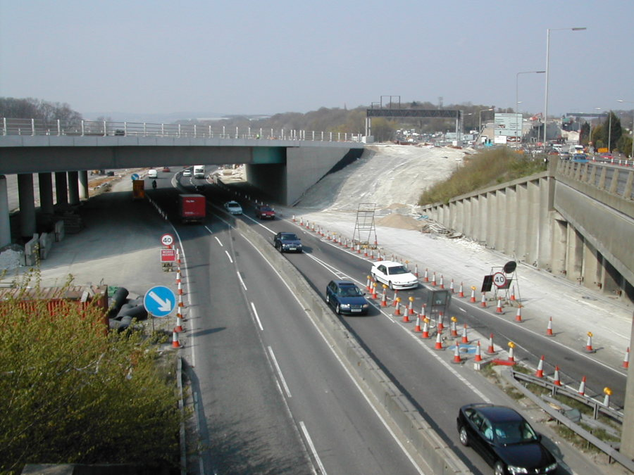 M2 motorway widening, bluebell hill a229 photos