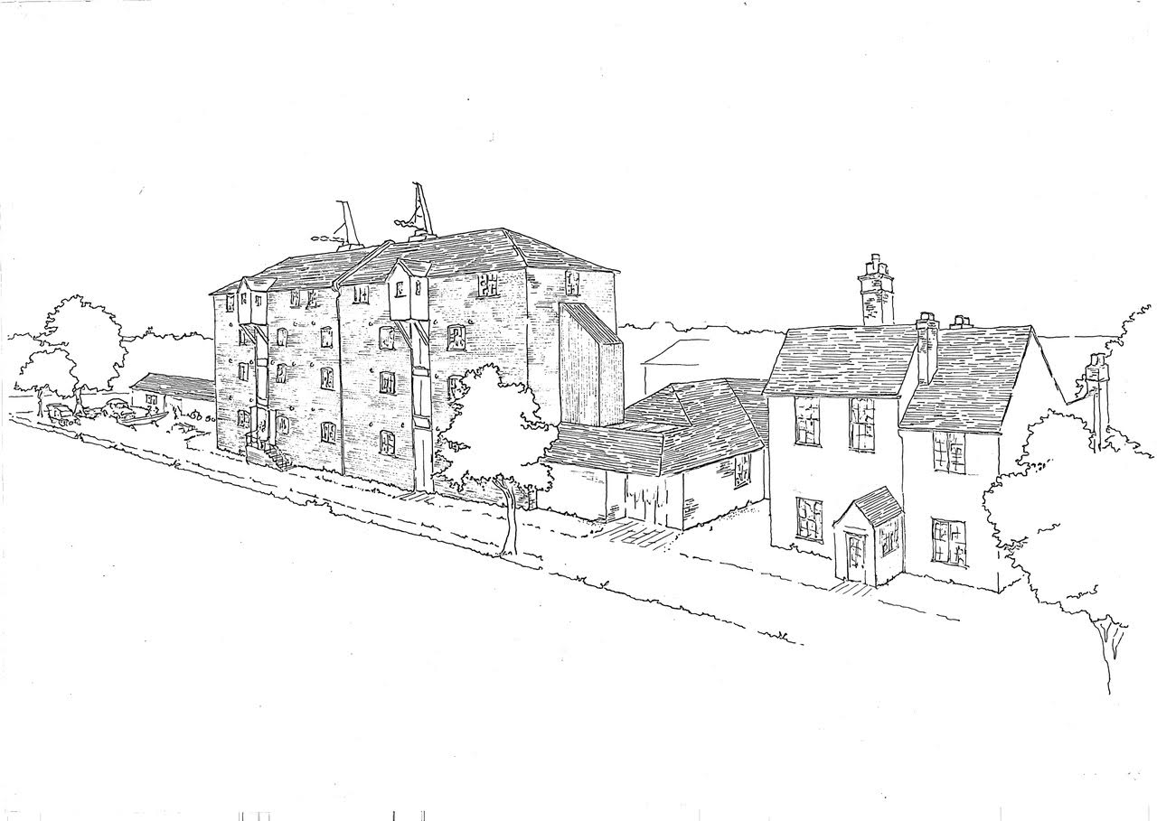 Drawing below of the Oast showing Platform Row cottages