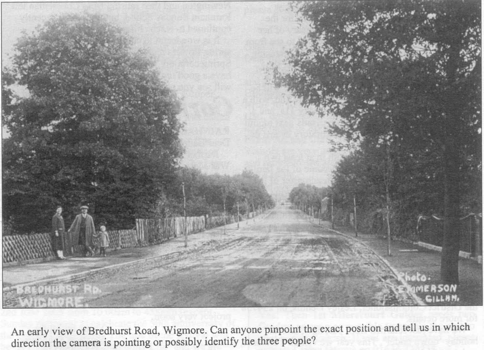 Old Photo of Bredhurst Road Wigmore
