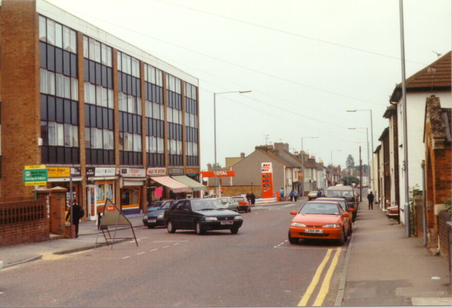 Photos of Station Road Rainham Kent 1996 with Methodist church on right