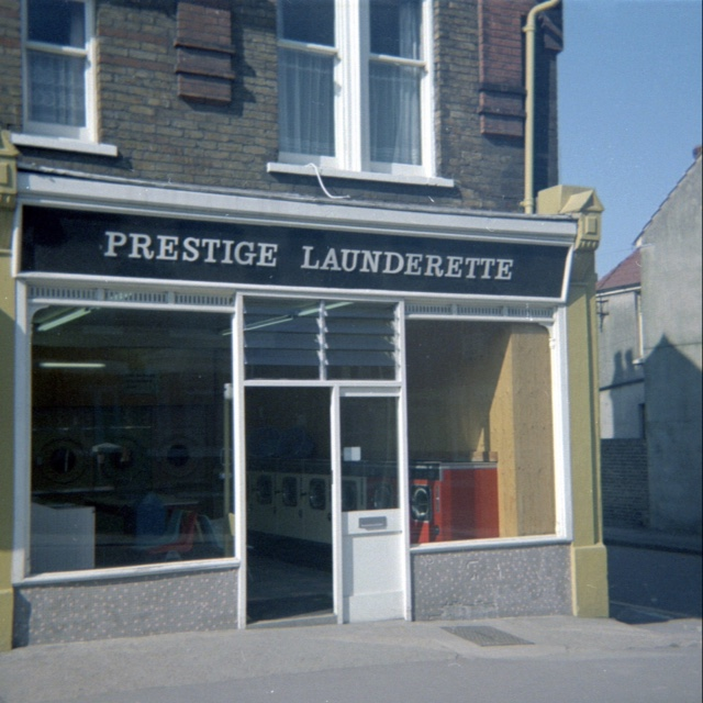 Prestige Launderette, Station Road approx 1972