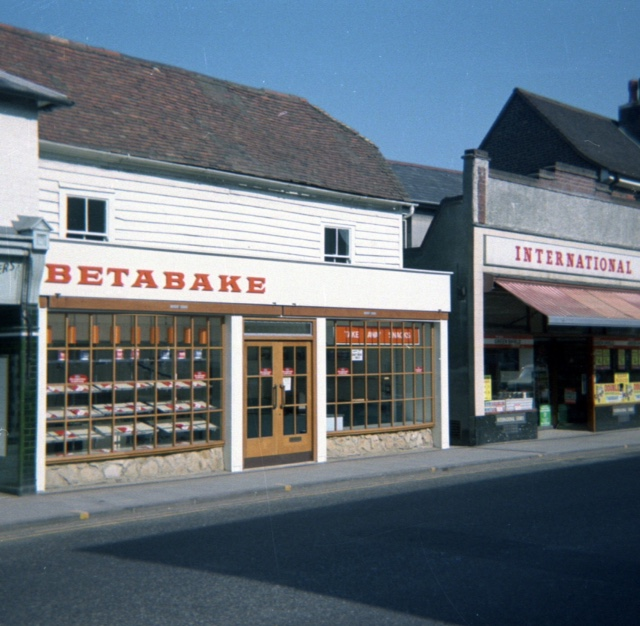 Photo of Betabake & International Stores, Rainham in 1972