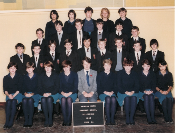 Gillingham Technical High School (GTHS) Form A4 1982