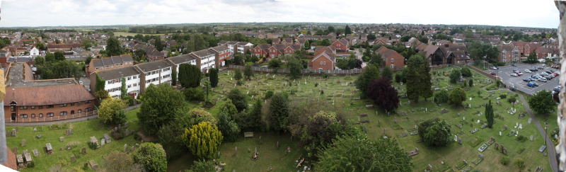 View from Rainham Church tower over Rainham Kent