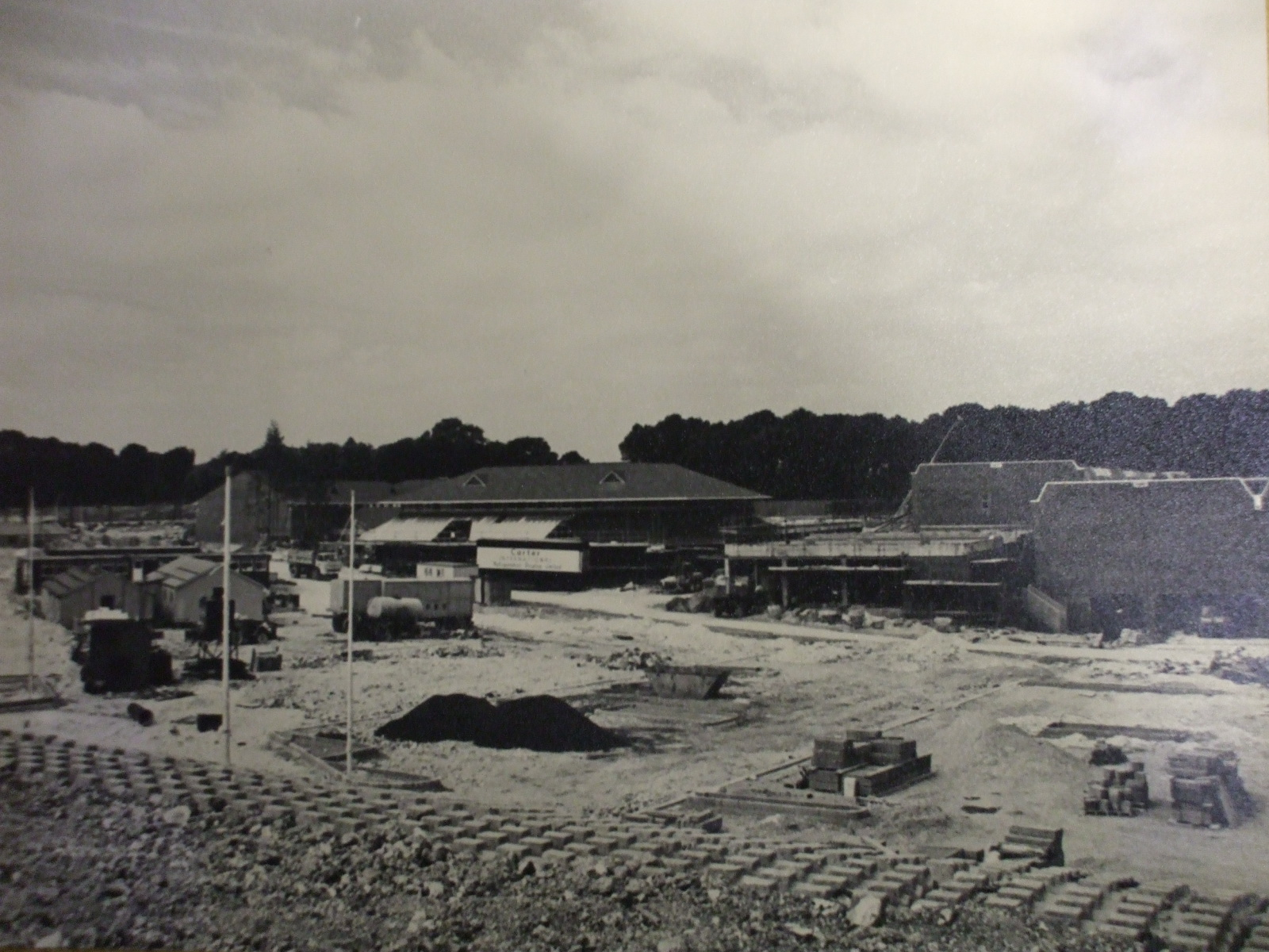 Photos of Savacentre Hempstead Valley Shopping Centre 1978:Looking towards Hempstead Valley from Sharsted Way