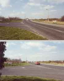 Photo of Short Lane/Lower Rainham Road prior to Northern Relief Road construction