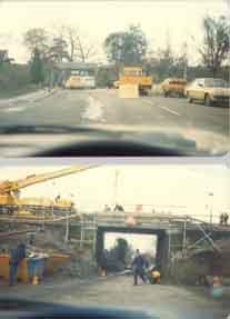 Photo of Berengrave lane 1980, new railway bridge