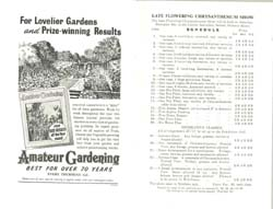 Copy of Programme for Rainham Horticultural Society Show 1957
