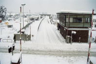 Rainham station in snow 1987