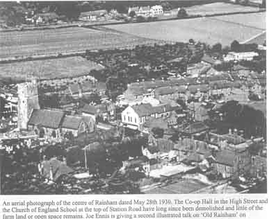 Aerial Photo of Rainham 1930