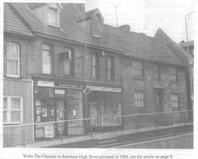 Watts Chemist High Street Rainham 1984